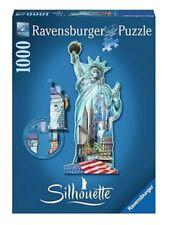 """puzzle 1000 pièces STATUE DE LA LIBERTE NEW YORK """"silhouette"""" - sous blister"""