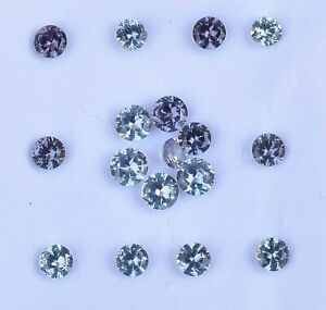 VVS 17 Pcs Natural Color Change Alexandrite Certified Flawless 4.00 mm Gemstone