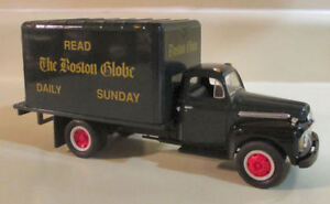 FIRST GEAR 1/34 BOSTON GLOBE NEWSPAPER FORD DELIVERY TRUCK  BANK  #29-1064 NEW