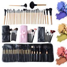 7/12/24/32PC Professional Makeup Brushes Set Cosmetic Tool Makeup+Luxury Bag HOT