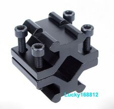 "Universal 15-25mm (1"") Barrel Mount Dual Picatinny Rail Adapter For Bipod Rifle"