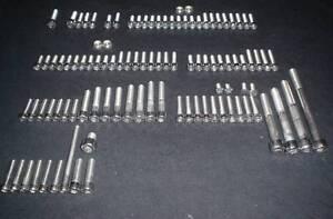 CZ  POLISHED STAINLESS STEEL SCREW BOLT ENGINE  KIT 250 360 380 400 SET