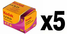 Pellicola 35mm Rullino Colore Kodak Gold 200 135-24 5pz.