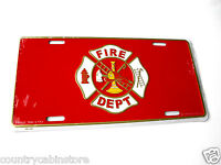 FIREFIGHTER FIRE SERVICE LICENSE PLATE AUTO STANDARD SIZE 6 X 12 INCHES