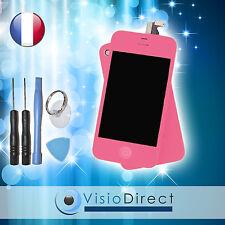 Ecran complet pour iPhone 4S rose vitre tactile + ecran LCD sur chassis + outils