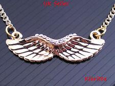 Costume Jewellery Angel Wings Necklace Rhienstones Pendant N21