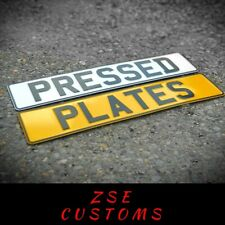 3D PRESSED METAL ALUMINIUM REGISTRATION / NUMBER PLATES - MOT & DVLA COMPLIANT