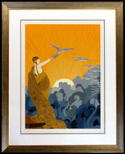 "Erte ""Wings of Victory"" Hand Signed Ltd Ed Serigraph Art Deco 1978 New Frame OBO"