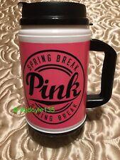 Victoria's Secret Pink Nation Chug Mug Hot/Cold Drink Travel To Go Cup PINK HTF