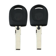 2x Transponder Chip Ignition Key CAN ID48 for Audi A3 A4 A6 TT Uncut Blade