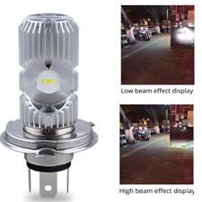Motorcycle LED H4 HS1 Hi Lo COB Light Headlight Motorbike Bulb Lamp 6500K 1A 12V