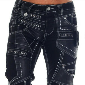 G-RAG NEO Mens Jeans Clubwear Denim Black all Sizes