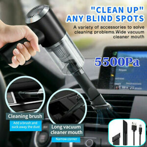 120W Rechargeable Cordless Handheld Vacuum Cleaner Car Auto Home Duster 5500Pa