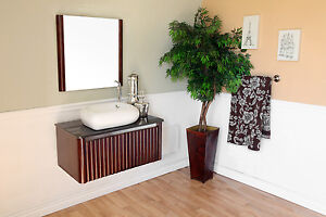 32.5 in Single Sink Vanity-Solid Wood-Walnut***FREE SHIPPING***