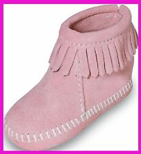 CHAUSSONS MINNETONKA FRANGES ROSE  TAILLE 23 US 6  NEUFS AVEC BOITE VAL 45€