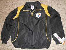 NEW Pittsburgh STEELERS Pullover Lined GIII Windbreaker Jacket - Men's M - NWT