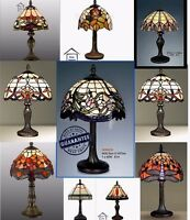 Tiffany-Style HandCrafted Glass Table /Desk / Bedside Lamps ( Stunning Quality )