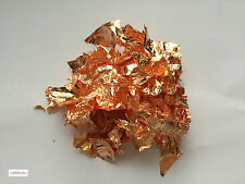 5 grams of copper leaf flakes craft, gold & silver leaf flakes also in shop