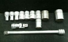 12 PC. SNAP-ON SOCKETS W/EXTENSION & UNIVERSAL