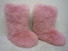 UGG AUSTRALIA - FLUFF MOMMA  5302 - Vintage Pink Sheepskin Fur Boots - Size 7 W