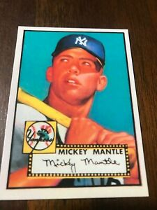 TOPPS MICKEY MANTLE ROOKIE CARD #311 REPRINT