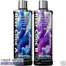 Brightwell Reef Code AB Pro Pack 2x 250mL Calcium KH Buffer Free USA Shipping
