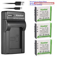 Kastar Battery Slim Charger for Fujifilm NP-50 BC-45W Fuji FinePix XP200 Camera