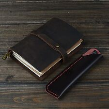 Leather Retro Notebook Bound Journal Diary Sketchbook Travel Pocket Notebook New