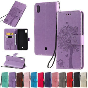 For LG G8S ThinQ K20 K30 2019 Tree&Cat Leather Flip Wallet Card Stand Case Cover