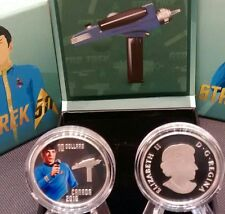 Spock Star Trek $10 2016 Pure Silver Proof Colour Coin.