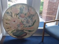 """MCM Andersen Signed Original Floral Still Life Oil Painting LARGE 45"""" ROUND"""