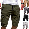 Men Casual Shorts Gym Sports Short Pant Drawstring Multi Pocket Overall Srousers