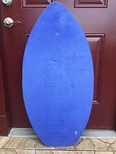 "Surf Style Wooden Boogie Skim Board Surf Beach with Blue Foam 40 1/2"" x 20 1/2"""