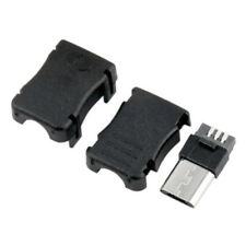 10Pcs Micro USB 5 Pin Male Connector Port Solder Plugs Plastic Cover For DIY HOT