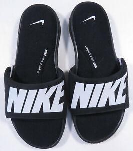 Nike AR4494--003 Ultra Comfort Black White Mens Slides Sandals Shoes Size 7