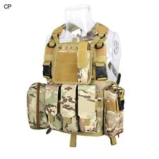 DLP Tactical RRV Chest Rig MOLLE Vest in Multicam with four pouches