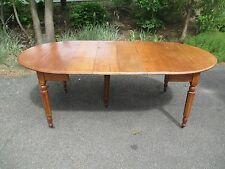 American Chestnut & Ash 5 Leg Drop Leaf Dining Table EARLY / RARE leaf supports
