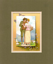 LATE VICTORIAN (may be Edwardian) COSTUME PORTRAIT - THE MILKMAID & HER BEAU