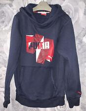 Boys Age 7-8 Years - Puma Hooded Top - Navy