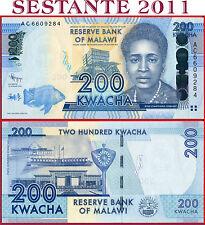MALAWI  -  200 KWACHA 1.1. 2012  -  P  60  -  FDS / UNC
