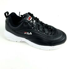 New listing Fila Women's Disarray Sneakers Shoes Black & White Tennis Shoes Size 8 M
