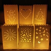 10 x 26cm Luminary Paper Lantern Candle Bags - multi-listing choice of designs