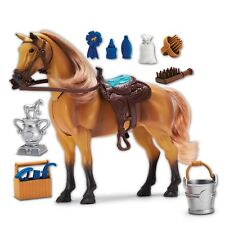 Horse Toy Set Quarter Blue Ribbon Champions Deluxe Grooming Kids Play Girls Boys