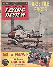 RAF FLYING REVIEW JULY 60 FACSIMILE: S & R/F2H-3 BANSHEE/ U-2/AVRO CF-100/Ju-288