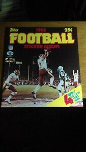 Unused 1983 Topps Football Sticker Album  EX-MT