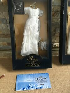 Franklin Mint TITANIC Rose Doll White HEAVEN GOWN Ensemble outfit NRFB w/COA