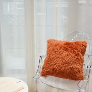 45x45cm Soft Natural Fur Fluffy Australian Sheepskin Pillow Cushion Chair Cover
