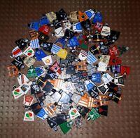 100 Lego Figuren Torsos, Oberkörper, bedruckt, Minifig. City, Adventure T5