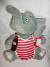 "Elephant Coca Cola Bottle red swimsuit plush stuffed Animal 14"" VTG 1994 RARE"