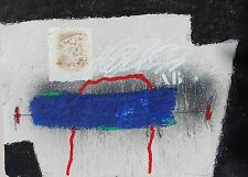 """COIGNARD James """"Bleu et arc rouge"""" Gravure au carborundum signée et numérotée"""